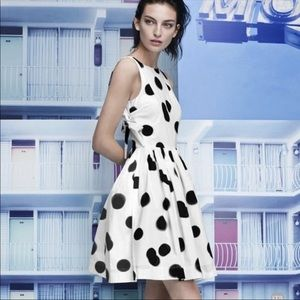 Marc by Marc Jacobs Blurred Dot Apron Dress 0